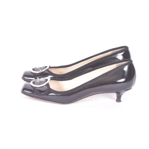 sapatos de fivela argola