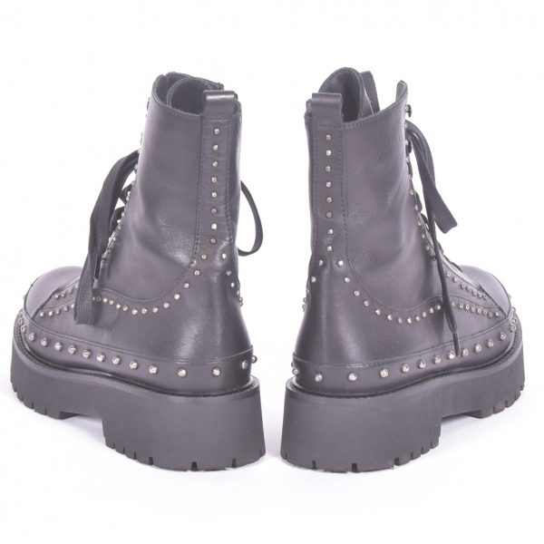 studded combat boots Costas