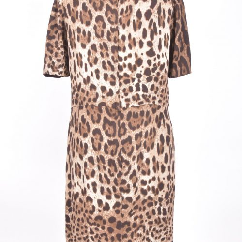 Vestido Animal Print Costas