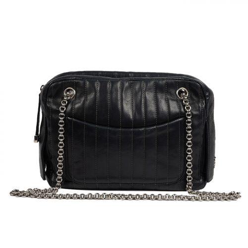 Mademoiselle Leather Chain Shoulder Bag