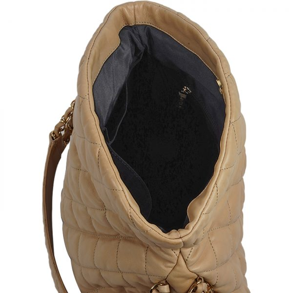 Mateless Lambskin Leather Shoulder Bag interior