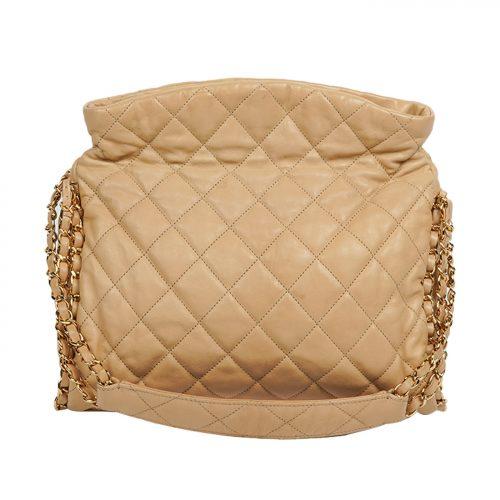Mateless Lambskin Leather Shoulder Bag