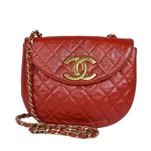 CC Quilted Lamskin Leather Bag
