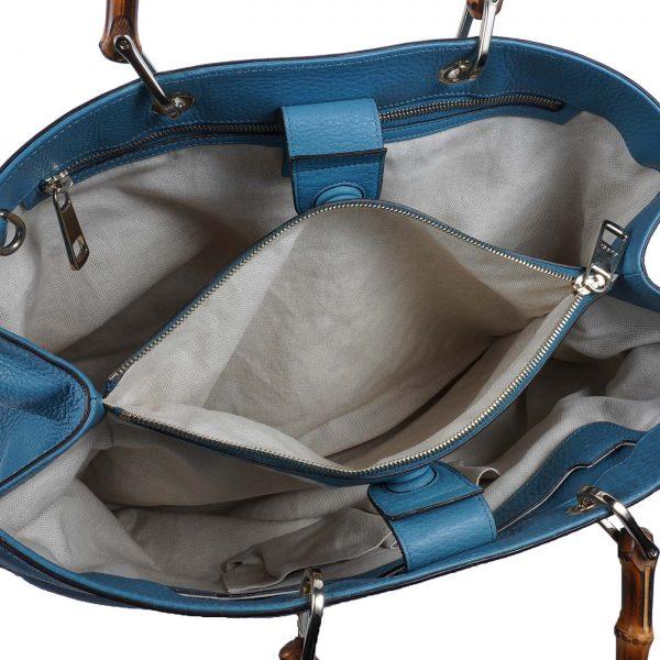 Shopping Bag Com Alça Em Bambu Forro