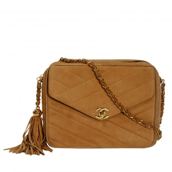 CC Quilted Suede Crossbody