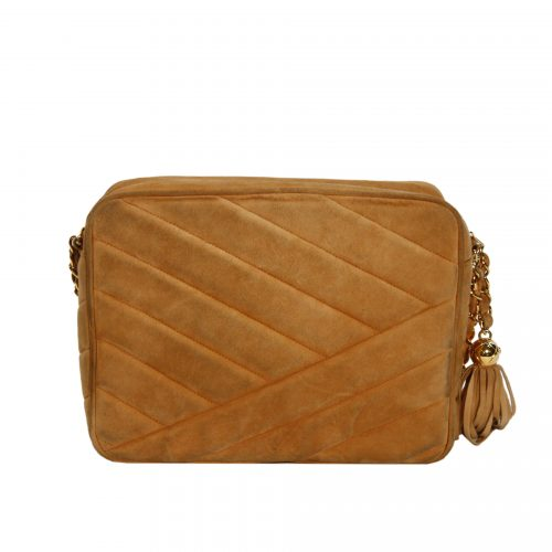 CC Quilted Suede Crossbody costas