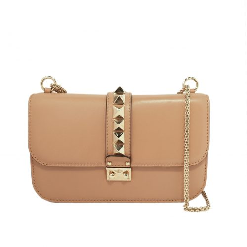 Glam Lock leather shoulder bag