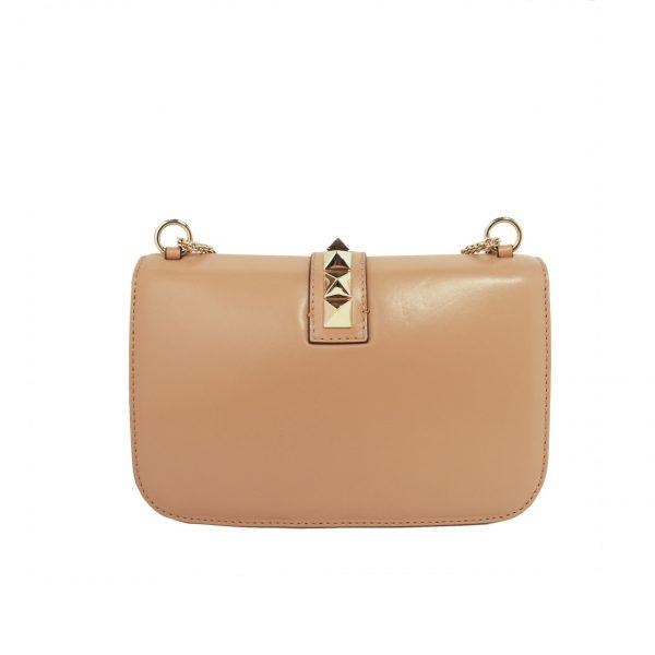 Glam Lock leather shoulder bag-Costas