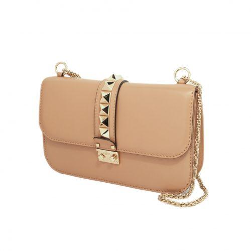 Glam Lock leather shoulder bag-Lado