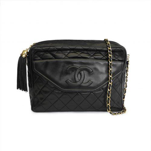 CC Classic Lambskin Leather Crossbody Bag