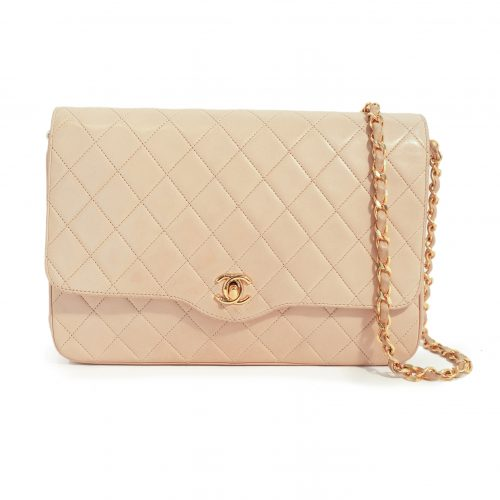 CC Timeless Lambskin Leather Shoulder Bag